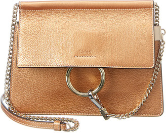 Chloé Faye Mini Pearly Leather Shoulder Bag