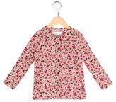 Marie Chantal Girls' Floral Print Long Sleeve Top