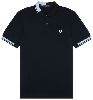 Fred Perry Abstract Twin Tip Polo Shirt