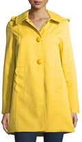 Kate Spade Mac Single-Breasted A-Line Rain Coat