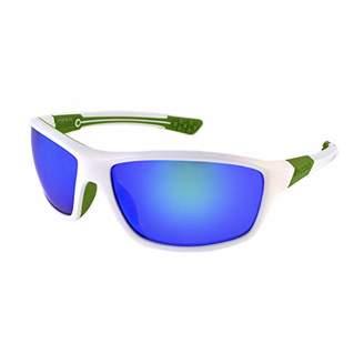 Reebok Men's Rsk 1 Wht Mir No Polarization Wrap Prescription Eyewear Frame