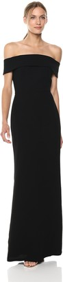 Calvin Klein Women's Fold Over Off The Shoulder Gown