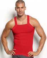 2xist Men's Underwear, Essentials Tagless Tank Square Cut 2 Pack