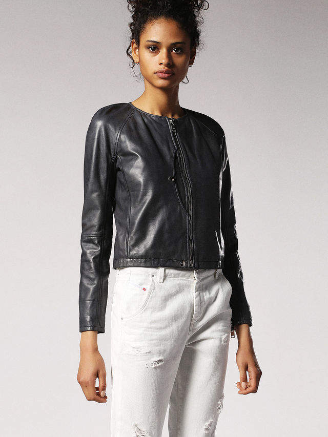 Diesel Leather jackets 0CAQM - Black - L
