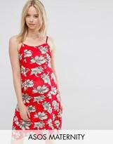 Asos Skater Dress In Bright Floral