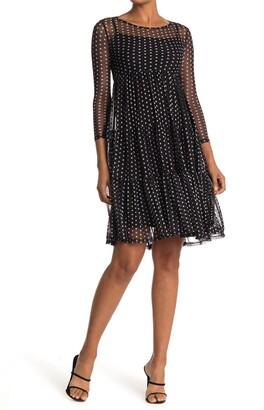 Velvet Torch Tiered Mesh Knee Length Dress