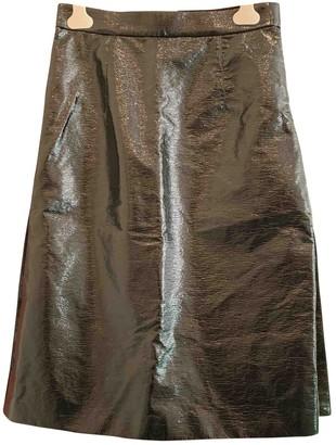 Mantu Black Patent leather Skirt for Women