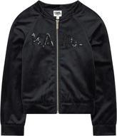 Karl Lagerfeld velvet bomber jacket