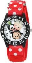 Disney Girl's 'Mickey Mouse' Quartz Plastic and Nylon Watch, Color: (Model: W003012)