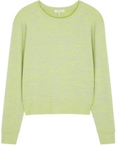 Rag & Bone Avryl lime fine-knit jumper