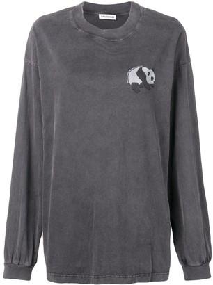 Balenciaga long sleeve panda T-shirt