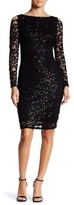 Marina Cold Shoulder Lace Sequin Dress