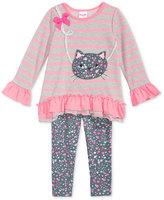 Nannette 2-Pc. Cat Shirt & Leggings Set, Toddler & Little Girls (2T-6X)