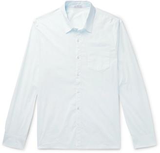 James Perse Slim-Fit Garment-Dyed Stretch Cotton-Blend Poplin Shirt - Men