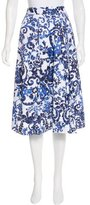 Milly Floral Print Knee-Length Skirt w/ Tags