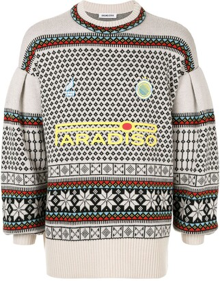 Ground Zero Paradiso intarsia knit jumper