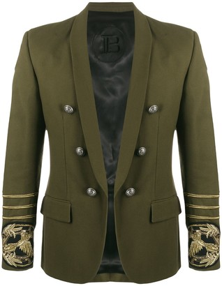 Balmain embroidered open front blazer