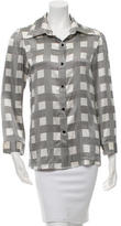 Alice + Olivia Printed Button-Up Top