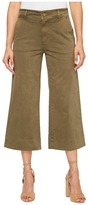 Lucky Brand Wide Leg Crop in Dark Olive Women's Jeans