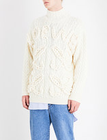 Loewe Cable-knit wool jumper