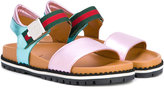 Gucci Kids - Web strap sandals - kids - Leather/rubber - 31