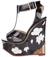 Charlotte Olympia Jasmine Pearl-Embellished Wedge Sandals