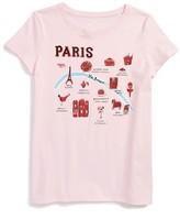 Kate Spade Girl's Paris Glitter Tee