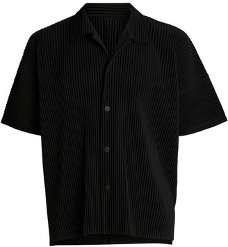 Homme Plissé Issey Miyake Pleated Bowling Shirt