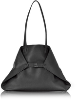 Akris Black Cervocalf Ai Medium Shoulder Bag