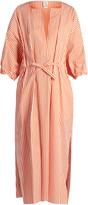 Maison Rabih Kayrouz Drawstring-waist cotton-poplin dress