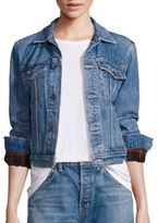 Helmut Lang Flannel Inserts Denim Jacket