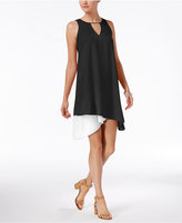 Bar III Asymmetrical Contrast Dress, Created for Macy's