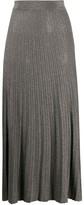 Roberto Collina metallic knitted midi skirt