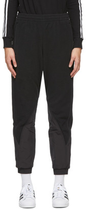 adidas Black Big Trefoil Polar Fleece Lounge Pants