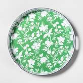 Threshold Round Melamine Serving Tray Green Floral