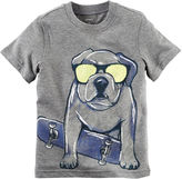 Carter's Short-Sleeve Gray Dog Knit Cotton Tee - Boys 4-8