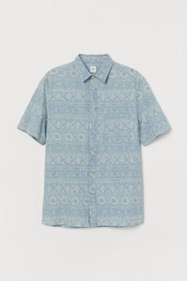 H&M Patterned denim shirt