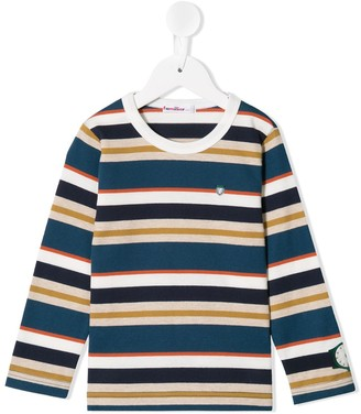 Familiar stripe print T-shirt