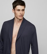 Reiss Hanro Robe - Hanro Night & Day Robe in Blue, Mens