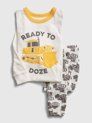 Gap babyGap Bulldozer PJ Set