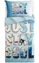 George Home Stay Cool Blue Reversible Duvet Set - Single