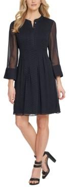 DKNY Long-Sleeve Shift Dress