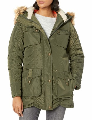 Madden-Girl Women's Multi Pocket Parka