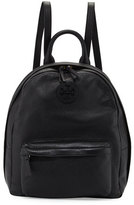 Tory Burch Zip-Around Leather Backpack, Black