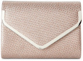 Sasha Brown Woven Embossed Convertible Clutch