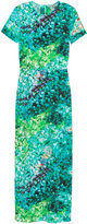 H&M Long Silk Dress - Turquoise/patterned - Ladies