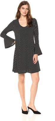 Karen Kane Women's Flare Sleeve Dress
