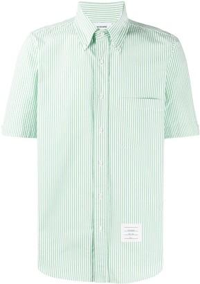 Thom Browne Seersucker Striped Shirt