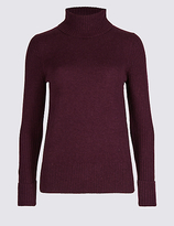 M&S Collection Lambswool Rich Roll Neck Jumper