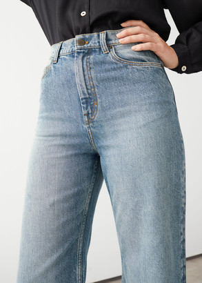 And other stories Organic Cotton High Rise Wide Leg Jeans